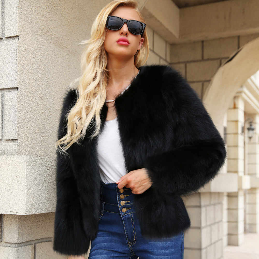 S-3XL KANCOOLD Plus Size Faux Fur Inverno Quente Casaco Mulheres Moda Cardigan Jaqueta Bomber Lady Fluffy Shaggy Casacos PJ0921