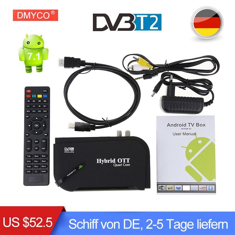 DMYCO Android 7.1 Smart TV BOX DVB-T2 1GB 8GB Media Player Amlogic S905D Quad Core Bluetooth 4.0 Wifi 4K Internet TV Set-top Box цена