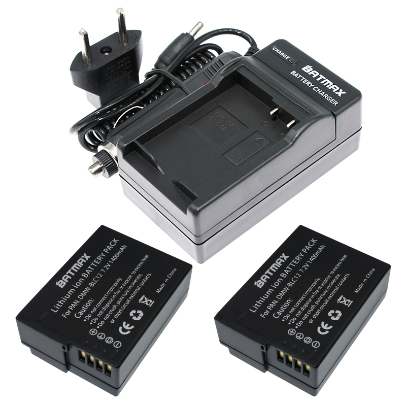 Dual Battery Charger for Panasonic DMW-BLC12 BLC12PP Lumix DMC-FZ1000 DMC-FZ300