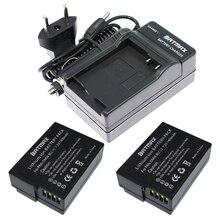 2(Pack) DMW-BLC12,BLC12E,BLC12PP,BLC12 Batteries+Charger for Panasonic Lumix FZ1000,FZ200,FZ300,G5,G6,G7,GH2,DMC-GX8
