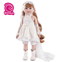 45cm Full Body Soft Silicone Vinyl Reborn Baby Doll Toy Princess Girl Babies Doll Birthday Gift Play House Bathe Toy