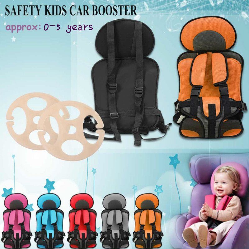 0-5 Year Baby Seats Simple Portable Toddler Baby Car Chair Thickening Sponge Adjustable Kids Car Stroller Booster Seat