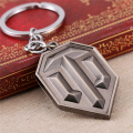 WOT Game World of Tanks Keychain Tanks flag Logo Key Chain Silver Zinc Alloy Novelty Key Holder For Fans Accessory Dropshipping