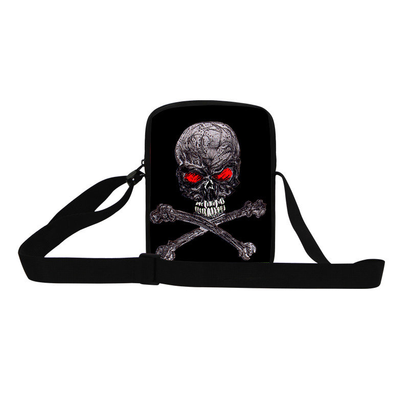 Casual Women Messenger Bags New Brand Skull Shoulder Bags For Girls Mujer Ladies Cross Body Bags Outdoor Sport Bag