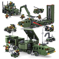 KAZI Military Educational Building Blocks Toys For Children Gifts Army Cars Planes Helicopter Weapon Compatible With