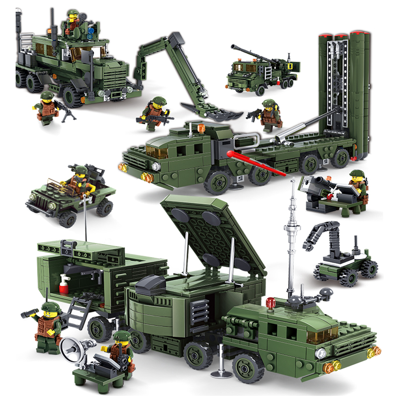 KAZI Military City Building Blocks Toys For Children Boy's Gift Army Cars Planes Helicopter Figures Weapon Compatible Legoe enlighten 1406 8 in 1 combat zones military army cars aircraft carrier weapon building blocks toys for children