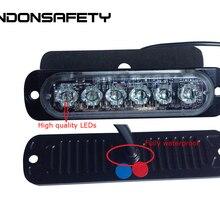 10 шт. FedEx! 18 Вт Тонкий и яркий светодиодный стробоскопический светильник, предупреждающий светильник, решетка поверхностного монтажа, 6 шт. 3 Вт светодиодный s, DC9-30V