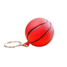 Leuke Basketbal Vorm Sport Stress Ball Link Sleutelhanger Sleutelhanger Tas Ornament(China)