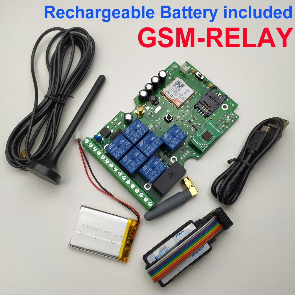 Image 2 - Free shipping GSM Relay Remote Control board with Seven Relay Real Time Switch output GSM QUAD Band designed with App support-in Access Control Kits from Security & Protection
