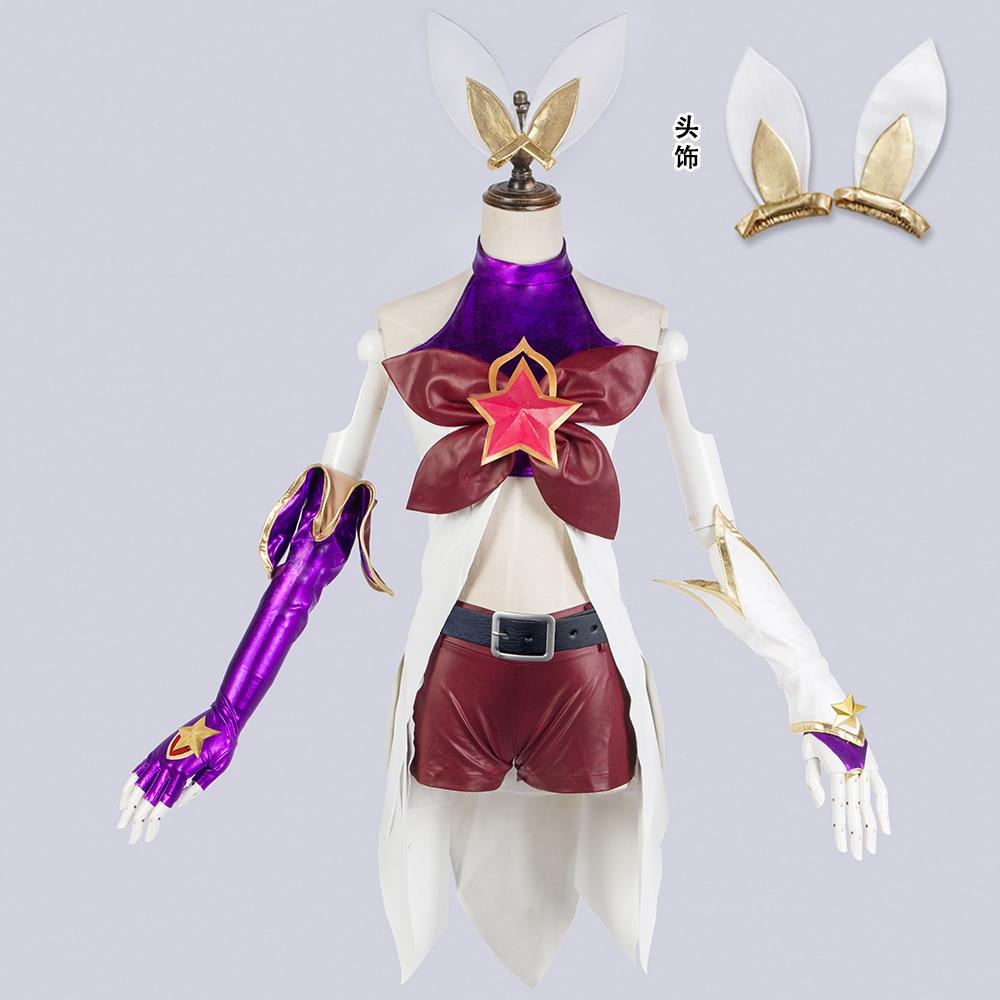 Джинкс лол Star guardien Magic Girl искусственная кожа форма Косплэй костюм Бесплатная доставка
