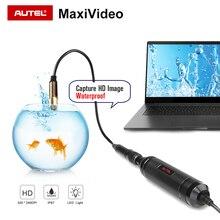 Autel MaxiVideo MV105/108 otomotiv muayene kamera 5.5/8.5mm görüntü kafası ile çalışmak MaxiSys PC kayıt görüntü araç teşhis