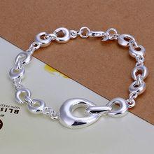 Fina del verano del estilo de plata chapada pulsera 925-sterling-silver joyería herradura pulseras de cadena para mujeres hombres SB292