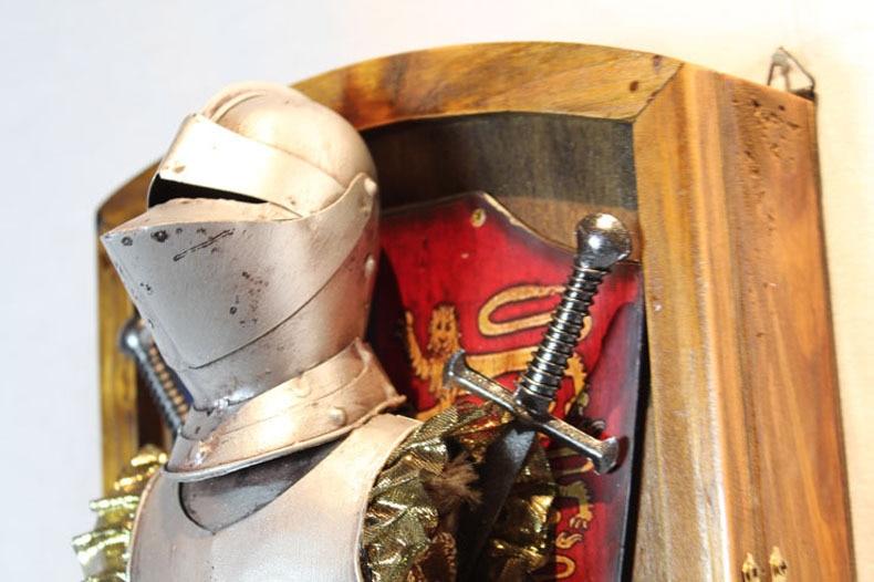 Evropské starožitné nástěnné závěsy / středověká řemeslná klíčová skříň / obývací pokoj restaurace, výzdoba vchodu