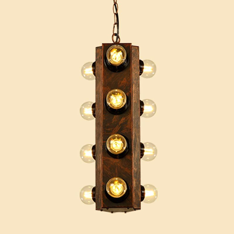 American loft industrial retro Pendant Lamps personality creative iron bar bar coffee shop restaurant many heads chandeliers цена и фото