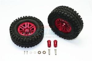 Image 2 - TRX TRX 4 TRX4 82056 4 Алюминиевый сплав 6 полюсные колеса и гусеничная шина + 21 мм шестигранный адаптер набор TRX4689/21 мм