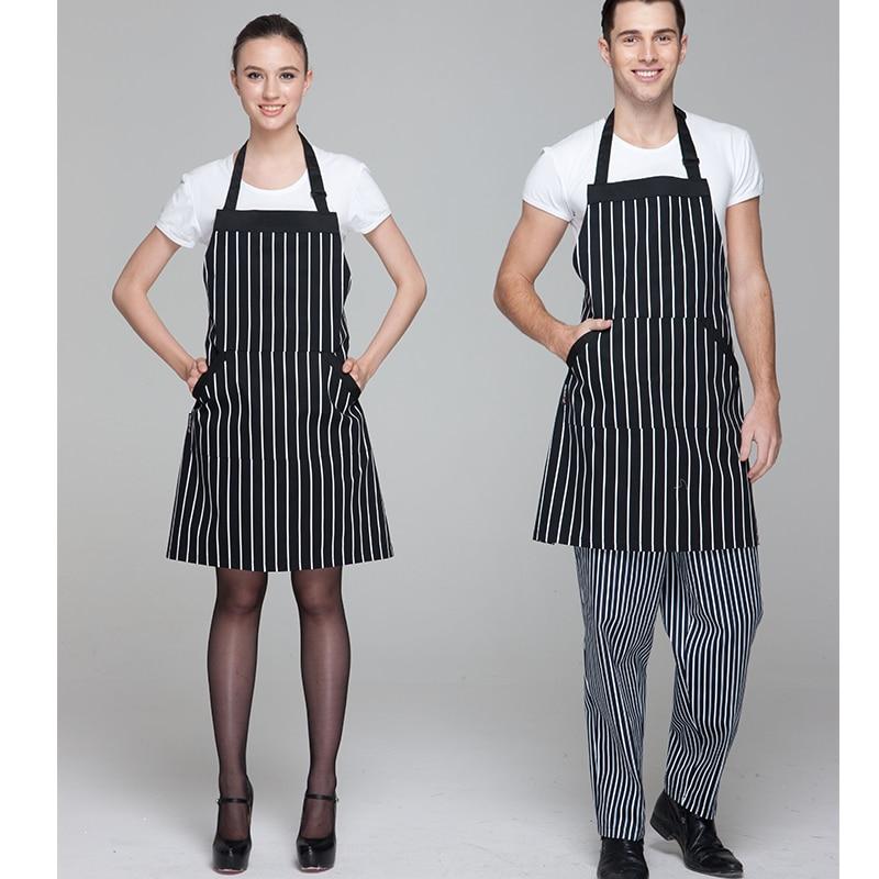 CHECKEDOUT restorāna virtuves formas tērpa formas regulējams šefpavāra priekšautu priekšauts ar divām kabatām