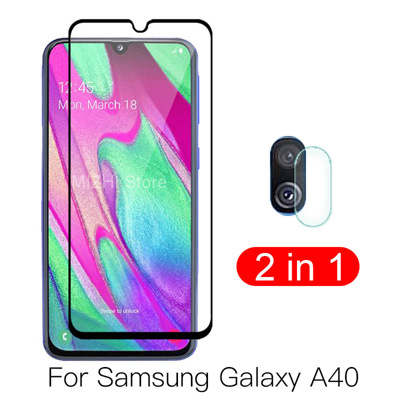 2in1 Camera <font><b>Glass</b></font> For Galaxy A40 Tempered <font><b>Glass</b></font> Screen Protector For <font><b>Samsung</b></font> Galaxy <font><b>A</b></font> <font><b>40</b></font> 2019 <font><b>Glass</b></font> 40A A405F back lens Film image