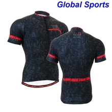 Black Cycling Jersey Short Sleeve Quick Dry Breathable Jerseys Summer Mountain Bike Bicycle Clothing Cycle Wear Shirt