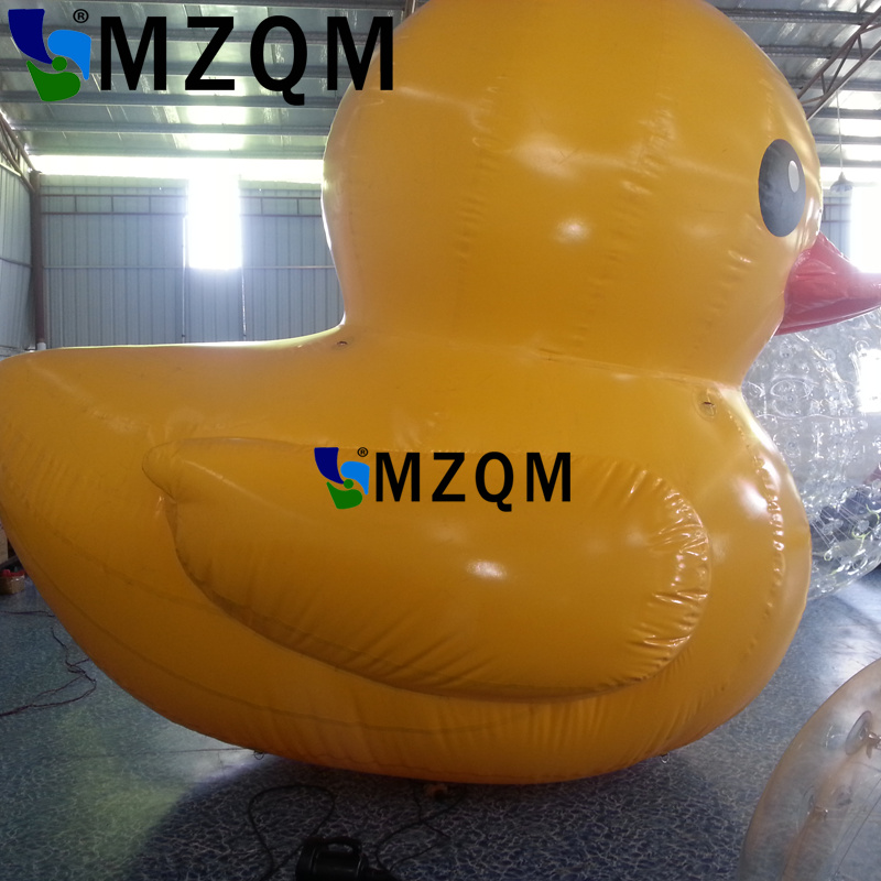 MZQM 4m height PVC inflatable yellow duck for advertising, giant ...