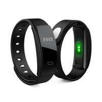 QS80 Smart Wristband 0.42'' OLED Heart Rate Monitor Alarm Clock Watches Blood Pressure Pedometer Fitness Tracker for Android ios