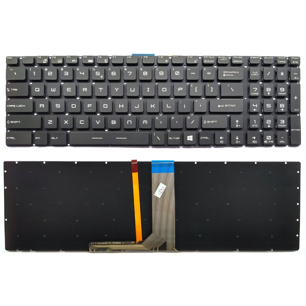 New US Laptop Keyboard For MSI GS60 GS63VR GS70 GS72 GT72 MS 16J1 MS 16J2 MS