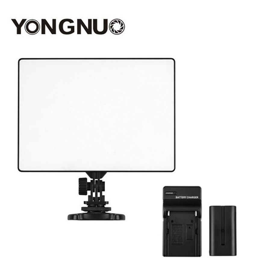 YONGNUO YN300 YN-300 Air LED Camera Video Light 3200K-5500K with NP-F550 Decoded Battery + Charger for Canon Nikon & Camcorder цены