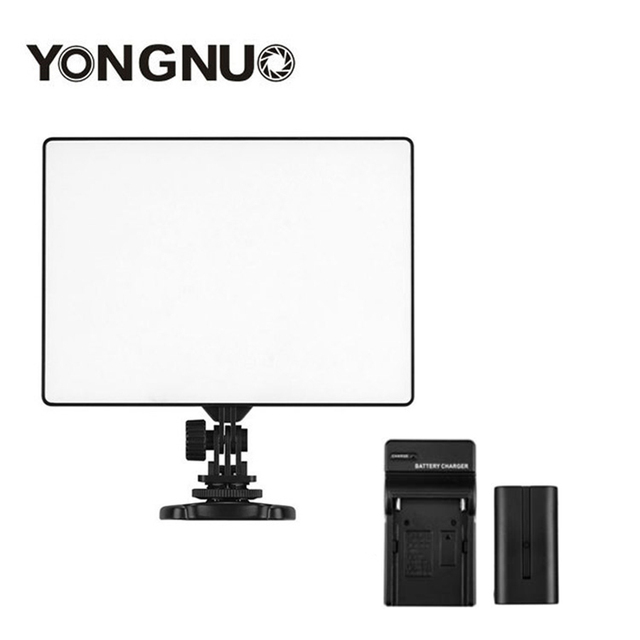 YONGNUO YN300 YN-300 Air LED Camera Video Light 3200K-5500K with NP-F550 Decoded Battery + Charger for Canon Nikon & Camcorder