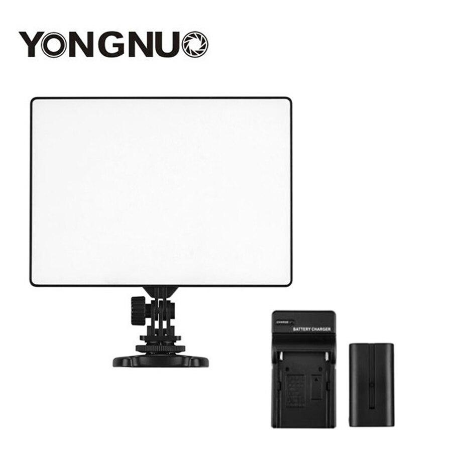YONGNUO YN300 YN 300 caméra LED d'air lumière vidéo 3200 K 5500 K avec NP F550 batterie décodée + chargeur pour Canon Nikon & caméscope-in Éclairage photographique from Electronique    1