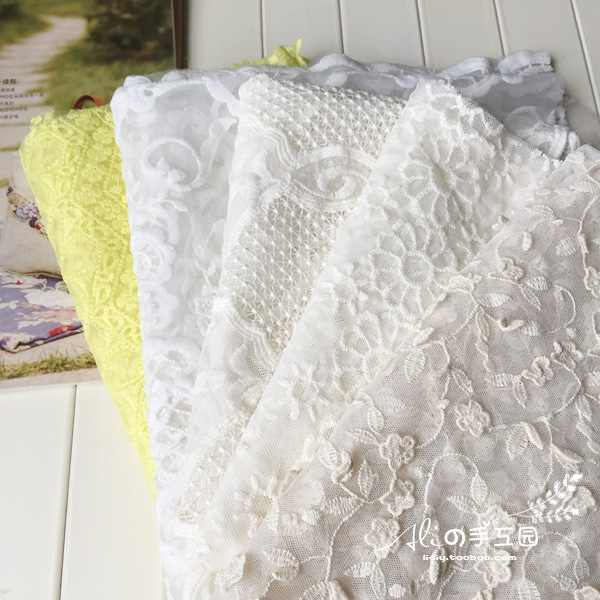 Pure Cotton Embroidery Water-soluble Lace Fabric Hand Gauze / Wedding Dress / Shooting Background
