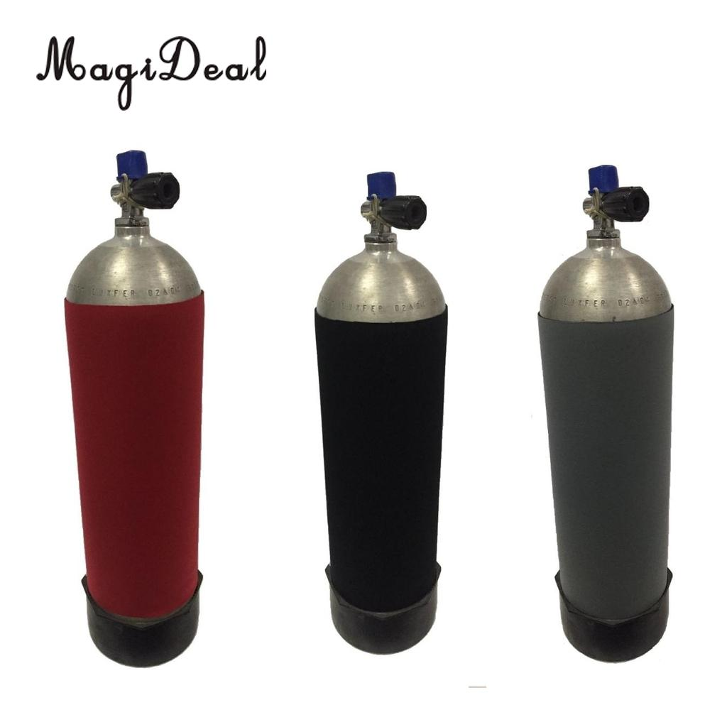 MagiDeal Universal Scuba Diving 12L Tank Gas Cylinder Bottle Neoprene Cover Protective Sleeve Gear Accessories Black/Red/Gray coffee table