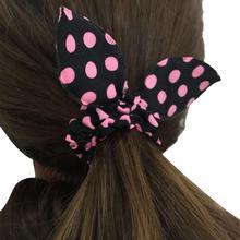 Женские ретро аксессуары для волос Резинка для волос Bow Point Rubber Band Высокая эластичная резинк