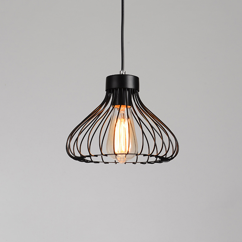 Retro loft iron cage pendant lamp dining room aisle corridor balcony bar club pub restaurant cafe chandelier vintage light loft retro tree glaze glass pendant lamp lights cafe bar art children s bedroom balcony hall shop aisle droplight decoration