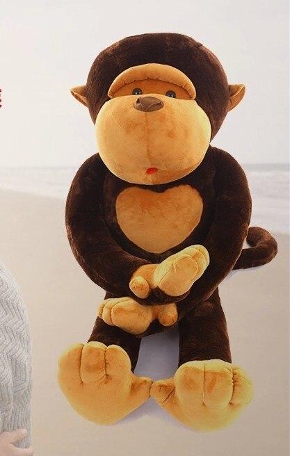 Belle peluche singe jouet long arms farcies poupée brun singe poupée cadeau poupée environ 80 cm 0125