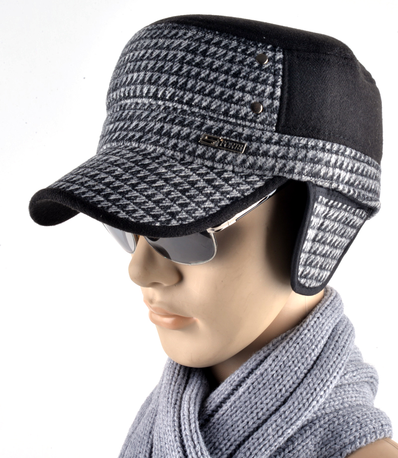 4b1cd27e1a4 2017 Fashion mens winter hat military style cap with ear flaps caps russia  gorras planas plaid maone hats for men casquette-in Military Hats from  Apparel ...