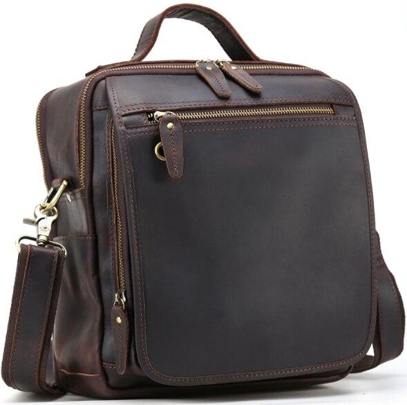 Hot Sale Men Teens Crossbody Bags Genuine Leather Messenger Shoulder Sling Bag Bagpack With Strap Bookbag
