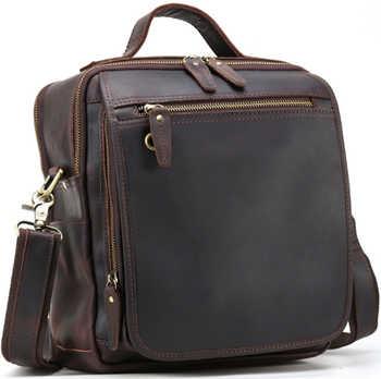 Hot Sale Men Teens Crossbody Bags Genuine Leather Messenger Shoulder Sling Bag Bagpack With Strap Bookbag - DISCOUNT ITEM  0% OFF All Category