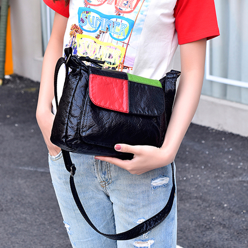 Mini Crossbody Bags Women's Flap hit color Bag Handbag PU Sac a Main Femme Ladies Messager Bag Long Strap Female Clutch o bag