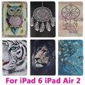 Dreamcatcher tigre leão tablet pc case para apple ipad 6 ipad ar 2 Air2 Capa Shell Protetora Da Pele Saco Preto e Rosa dentro