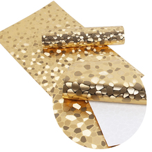 David accessories  about 20*34cm gold foil tripe grid argyle Synthetic leather fabric for hair bow diy decoration crafts,1Yc2923