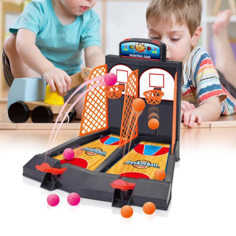 Children Baby Family Games Basketball Shooting Game 2-Player Desktop Table Shoot Fun Activity Toy For Kid Adult
