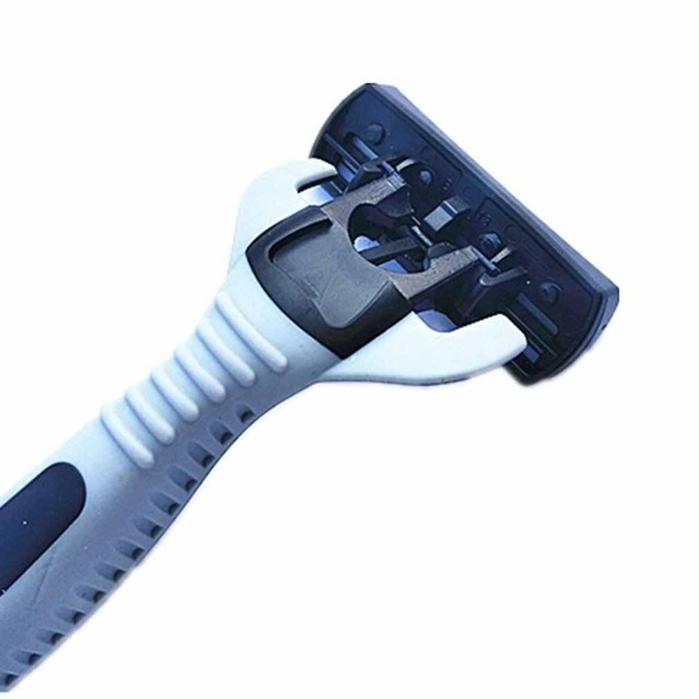 1 + 4 Combo ชุดผู้ชายความปลอดภัยแบบดั้งเดิมคลาสสิก 6 ชั้นโกนหนวดใบมีดมีดโกนโกนหนวดสแตนเลสผมใบมีด