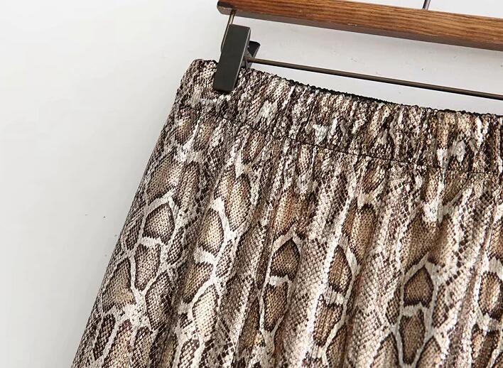 Autumn and Winter Snake Print Long Skirt Sequined High Waist Skirt Lady Fashion Streetwear 13