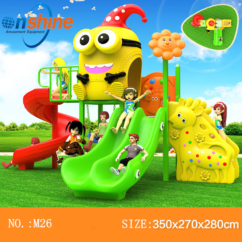 CE amusement outdoor playground slide equipment M26