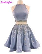 2018 sleeveless Above knee prom dress evening formal women elegant gown robe de soiree e
