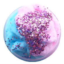 TOY Crystal Dynamic Sand Colorful Galaxy Cloud Fluffy Slime Squishy Putty Stress Relief Kids Clay cotton mud Slime Antistress(China)