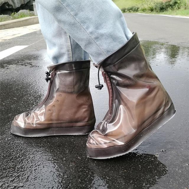 Thickening Reusable Waterproof Overshoes Shoe Covers Shoe Protector Anti-slip Rain Boot Men&Women's&Children Shoes Accessories 1