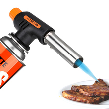 1PCS Barbecue Igniter Flamethrower Burner Butane Gas Blow Torch BBQ Guns Kitchen Lighters Welding Gun Camping BBQ Tool Flame Gun special offer wholesale authentic shoot suction liquefied gas flamethrower gas gun flamethrower type yd30 35 50