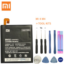 Original Replacement Battery For Xiaomi Mi 4 M4 Mi4 BM32 Genuine Phone 3080mAh