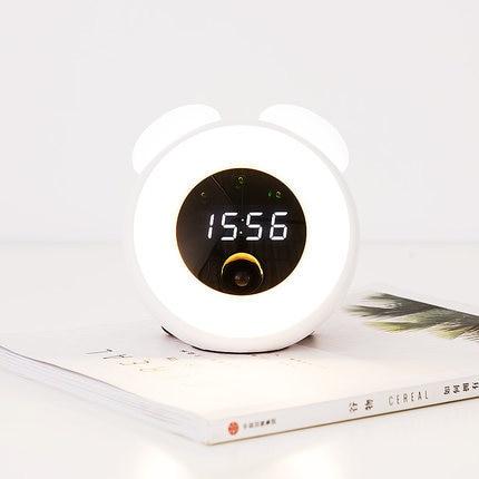 Time Light Double Ear Mushroom Light Children Intelligent Timing Sleep Led Induction Mushroom Light Alarm Clock 019