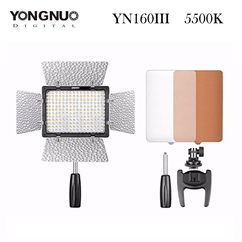 ФОТО YONGNUO YN160 III LED Video Light 192 LED Lamp Lights Photographic Lighting 5500K for Photo Studio DSLR Camera Camcorder